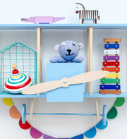 UP WARSAW AIRPLANE WOODEN SHELF - BLUE