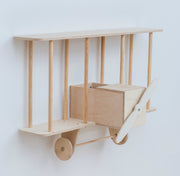 Up Warsaw Airplane Wooden Shelf - Natural