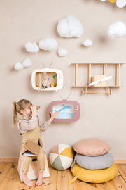 Up Warsaw Kids TV Wooden Shelf - Dusty Pink