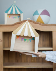UP WARSAW CIRCUS WOODEN SHELF - MUSTARD | WHITE