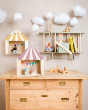Up Warsaw Circus Wooden Shelf - Dusty Pink