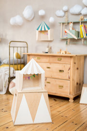Up Warsaw Circus Wooden Shelf - White