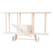 Up Warsaw Airplane Wooden Shelf - White