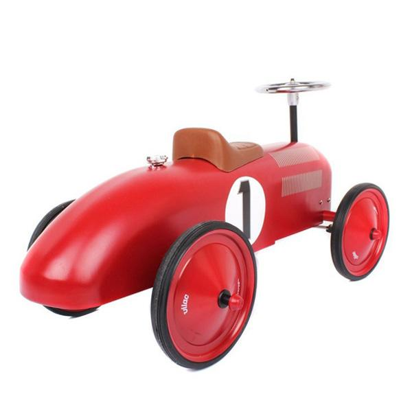 VILAC VINTAGE RIDE ON CAR - RED
