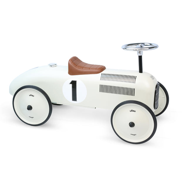 VILAC VINTAGE RIDE ON CAR -  OFF WHITE