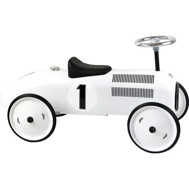 VILAC VINTAGE RIDE ON CAR - POLAR WHITE