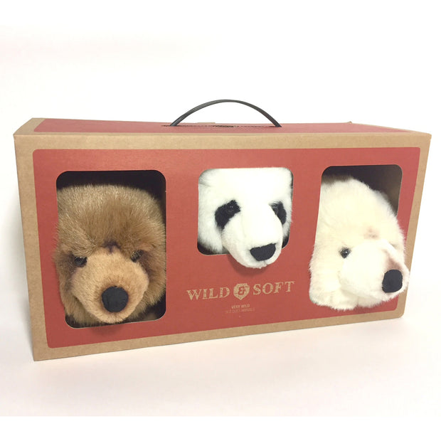 WILD & SOFT WALL TOYS - BEARS MINI 3 PACK