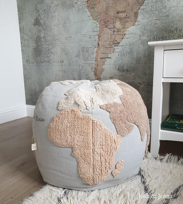 Lorena Canals Pouffe - World Map