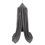 COTTON & SWEETS PURE NATURE LINEN CANOPY - GRAPHITE
