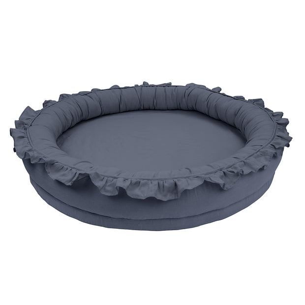 COTTON & SWEETS LINEN JUNIOR PLAY NEST - GRAPHITE