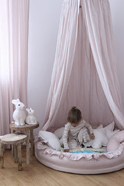 Cotton & Sweets Linen Junior Playnest - Powder Pink