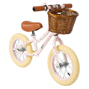 BANWOOD + BONTON FIRST GO BALANCE BIKE - PINK | STARS