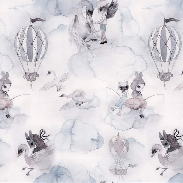 MRS MIGHETTO OH CLOUD WALLPAPER - LIGHT GREY