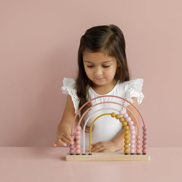 Little Dutch Rainbow Abacus - Pink