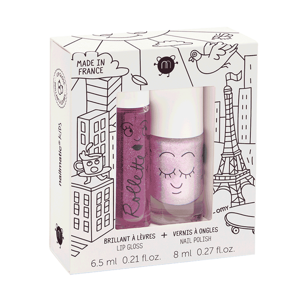 NAILMATIC KIDS DUO LOVELY CITY - BLACKCURRENT | KITTY