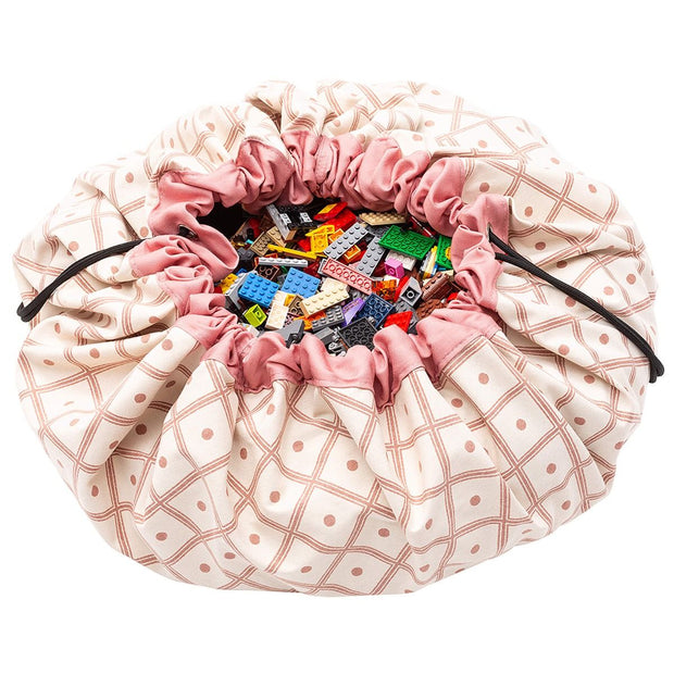 PLAY & GO TOY STORAGE BAG - GEO CORAL