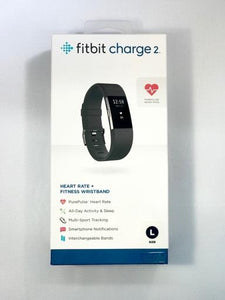 Fitbit Charge 2 Heart Rate + Large Black Fitness Wristband *New Sealed*