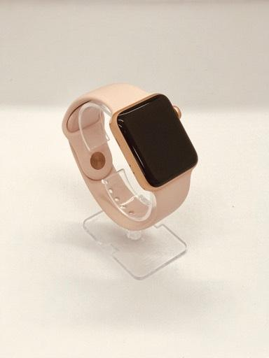 sports shoes 44fec 1b299 Apple Watch Series 3 38mm Gold Aluminium Case Pink Sand Sport Band