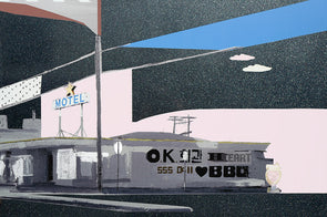 Bonnie and Clyde - 'BBQ Heart' On Aluminium