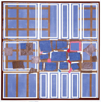 Sandra Blow - 'Blue Brown Interweave'