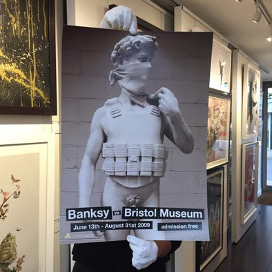 Copy of Banksy - 'Banksy Vs Bristol Museum' David Poster