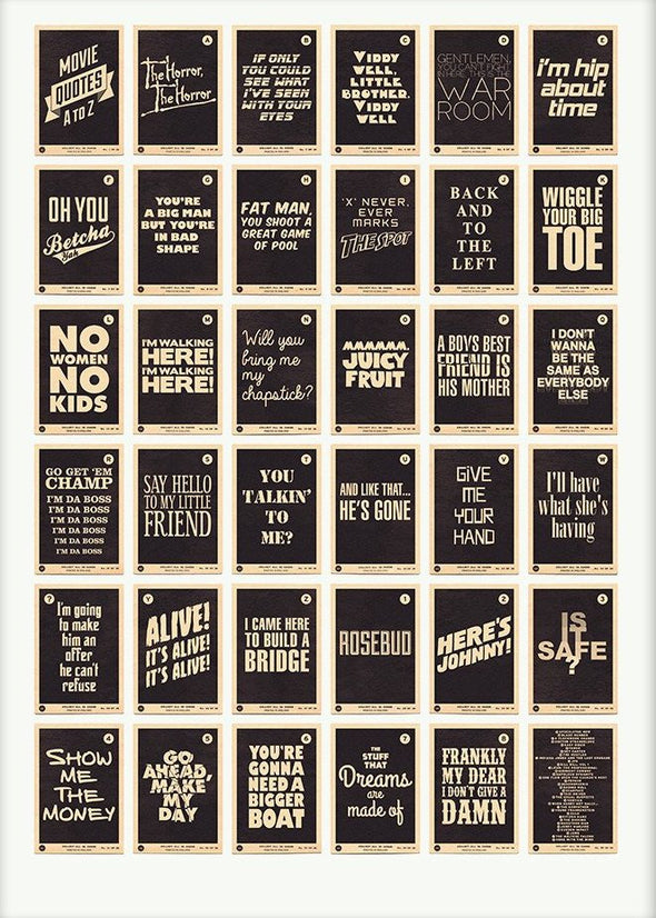 67 Inc - 'Movie Quotes A to Z' (Black)