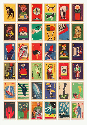 67 Inc - 'Vintage Matchbox Labels A to Z'