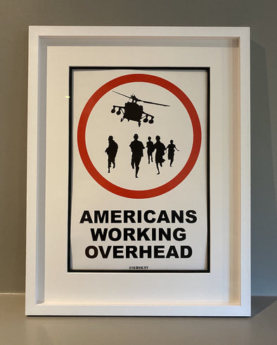 Banksy - 'Americans Working Overhead 018/BNK/5Y' (Extremely Rare Large Version)