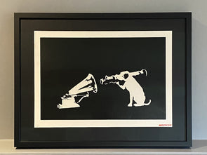 Banksy - 'HMV' (Unsigned with Banksy red stamp) POA