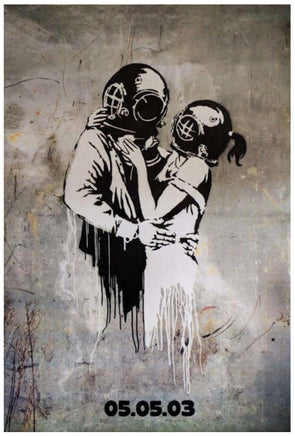 Banksy - 'Think Tank Promotional Poster' (Very rare bus stop version)