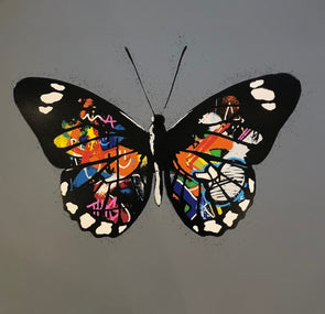 Martin Whatson - 'Butterfly' (Grey Background)
