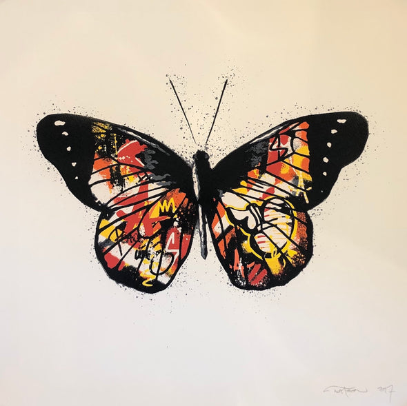 Martin Whatson - 'Butterfly' White Background (Rare edition of 15)