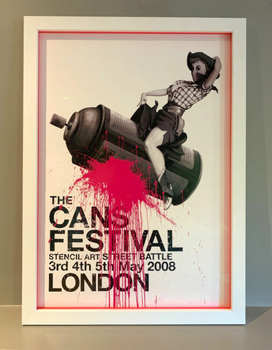Banksy - The Cans Festival (Very Rare Poster)