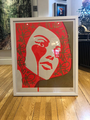 Pure Evil - 'Carlo Ponti's Nightmare - Italian Queen' Unique Hand-finished Print