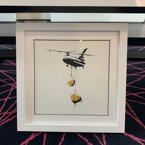 Martin Whatson - 'Mini Chinook Hearts' (Gold)