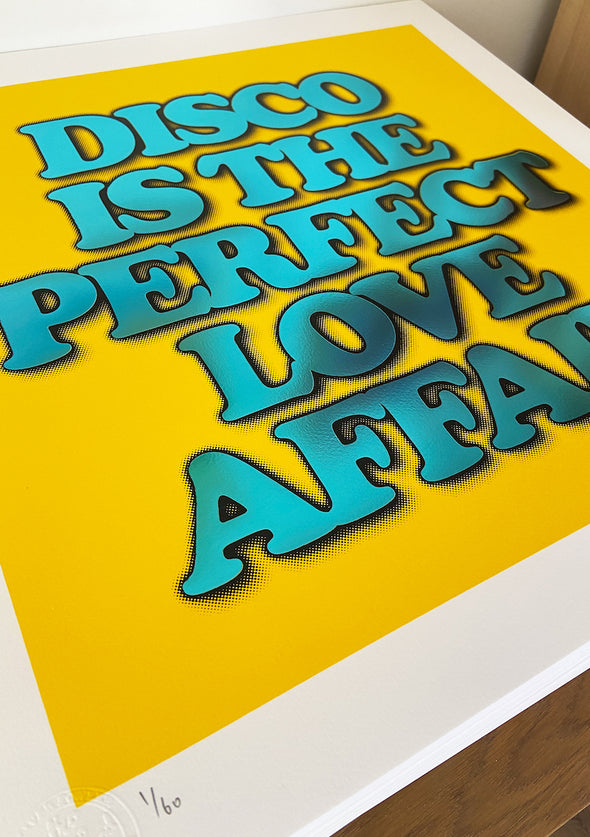 Oli Fowler - 'Disco Is The Perfect Love Affair' Yellow Hot Foil Edition