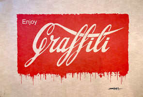 Ernest Zacharevic  - 'Enjoy Graffiti' Printer's Proof