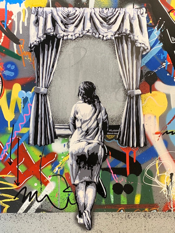 Martin Whatson - 'Figure At The Window' (Rare Printers Proof)