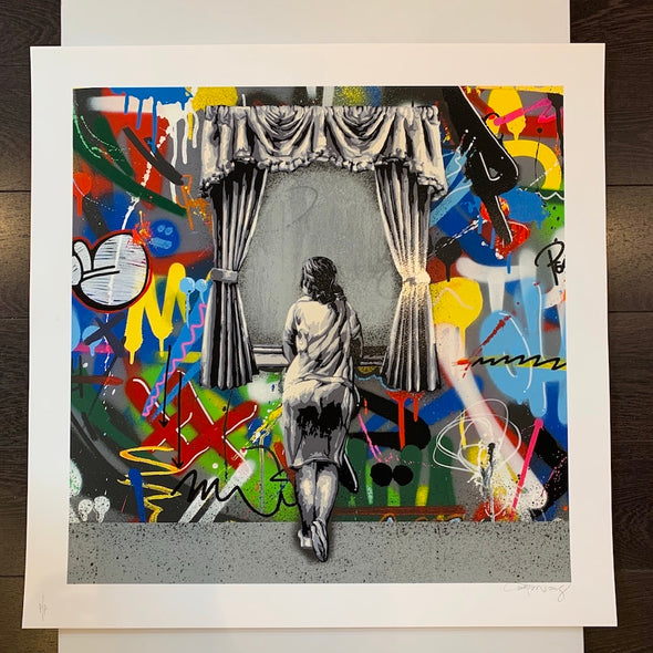 Martin Whatson - 'Figure At The Window' Square Edition (Rare Printers Proof)