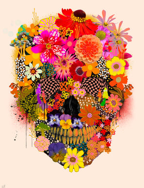 Victoria Topping - 'Flora and Fauna Skull'