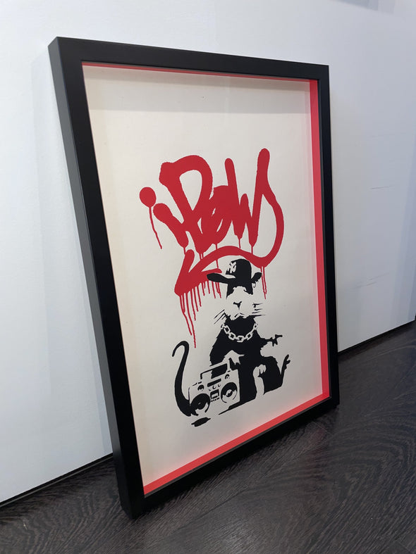 West Country Prince -'Gangsta Rat' Banksy Replica
