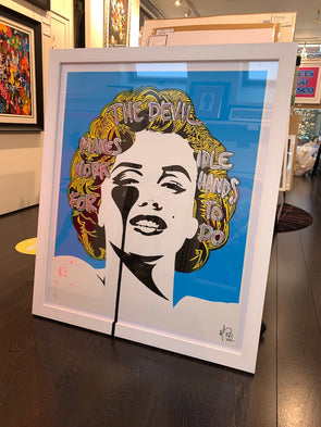 Pure Evil - 'I Dream of Marilyn - The Devil Makes Idle Work' Unique Hand Finished Print