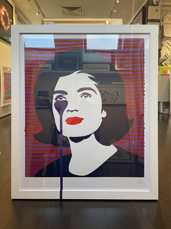 Pure Evil - 'Jackie Kennedy - Broken Hearted' Unique Hand Finished Print