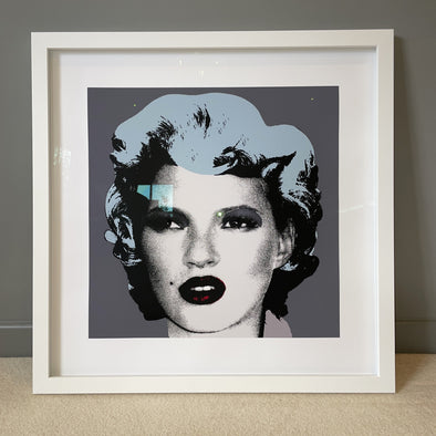 West Country Prince - 'Kate Moss' (Grey Background) Banksy Replica