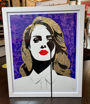 Pure Evil - 'Lana Del Rey's Nightmare - White and Black Pure' Unique Hand Finished Print