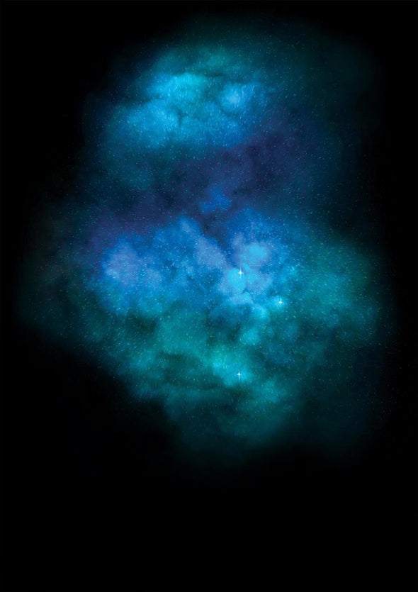 Lauren Baker - 'Galaxy Explosion - Diamond Dust Turquoise'