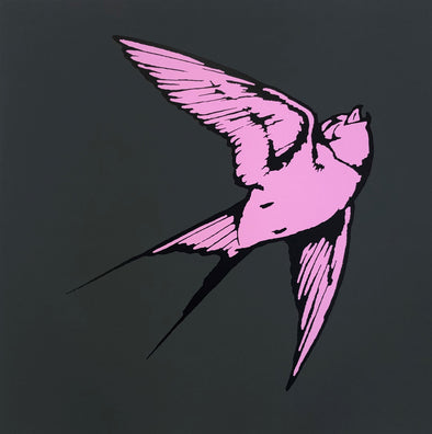 Dan Baldwin - 'Love & Light - Charcoal and Pink'