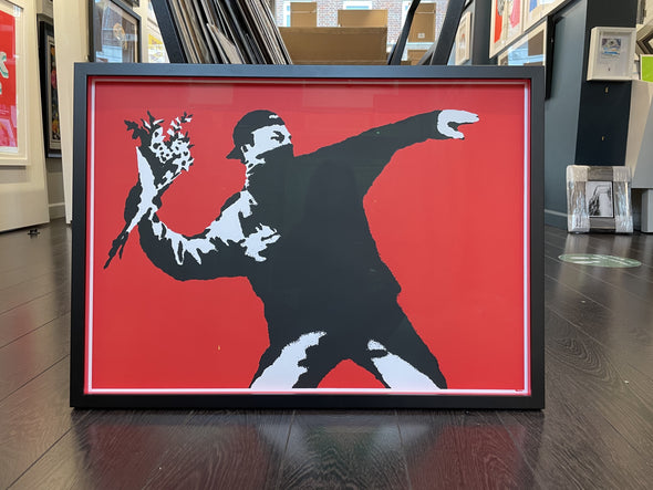 West Country Prince - 'Love Is In The Air' Banksy Replica