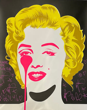 Pure Evil - 'Classic Marilyn - Blondes Have More Fun' Unique Hand Finished Print