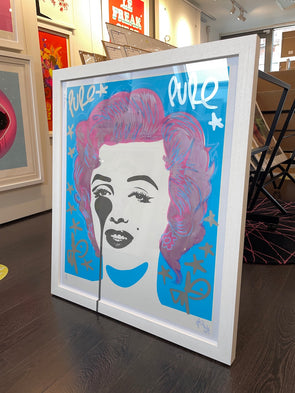 Pure Evil - 'Classic Marilyn - Candy Floss Hair' Unique Hand Finished Print